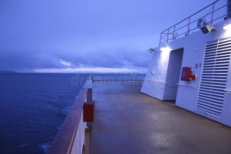 Polar afterdeck royalty free stock photography