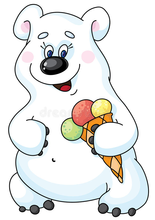 Download Polar bear stock vector. Illustration of cute, white - 14268371