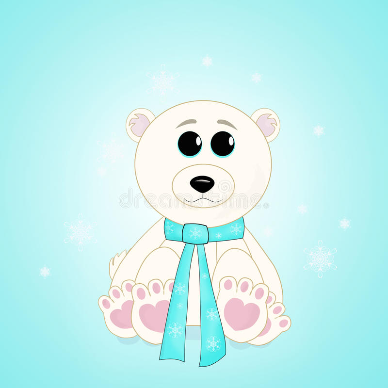 Polar Bear Baby stock illustration
