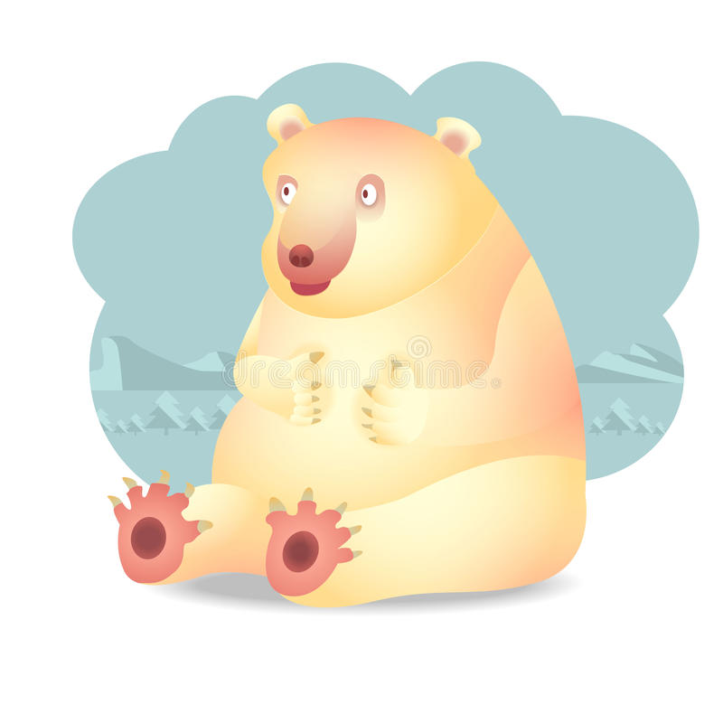 Polar Bear. Charactor, vector cartoon, character design royalty free illustration