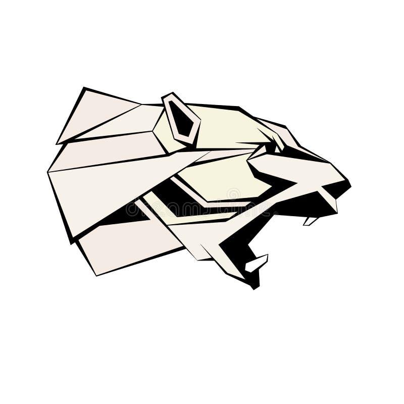 Polar bear head vector illustration geometric stock illustration