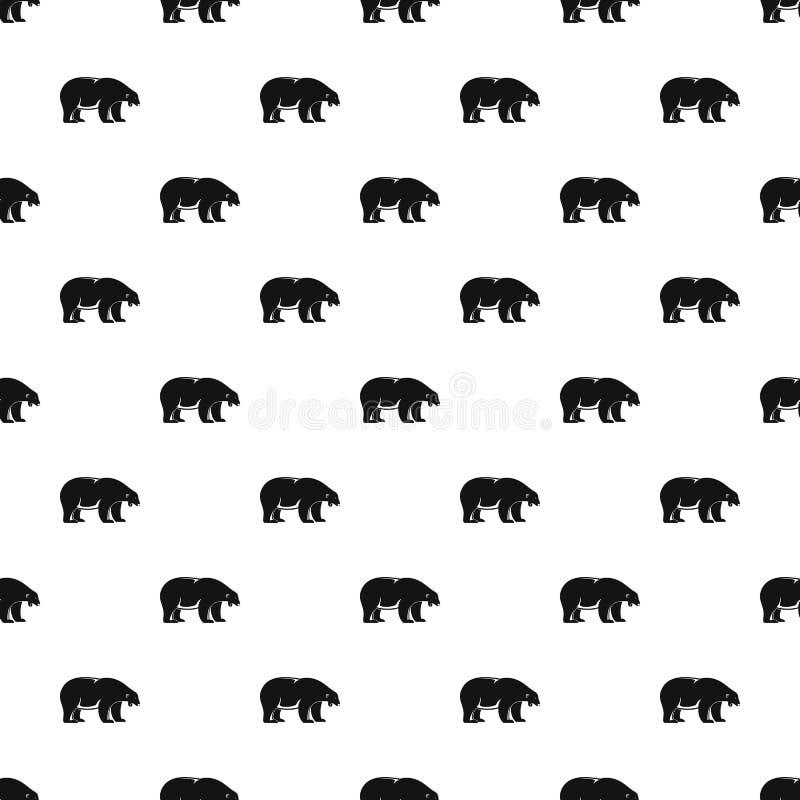 Polar bear howl pattern seamless vector vector illustration