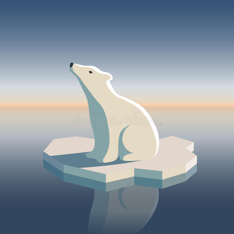 Download Polar Bear On Ice Stock Photography - Image: 12859082