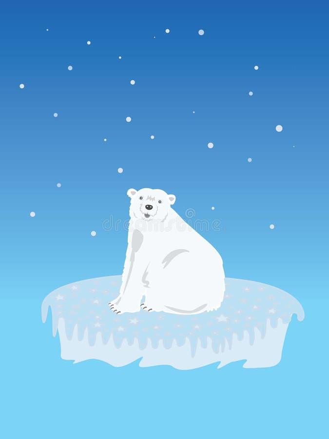 Polar Bear on Iceberg royalty free stock images