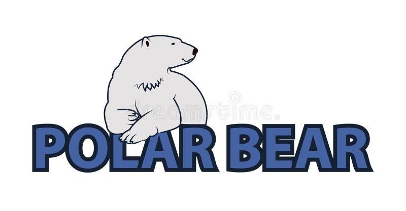 Polar bear illustration royalty free stock photos