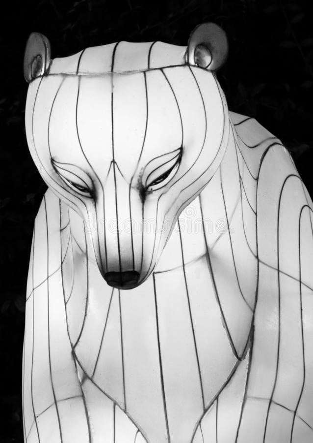 Polar Bear Lantern stock photography