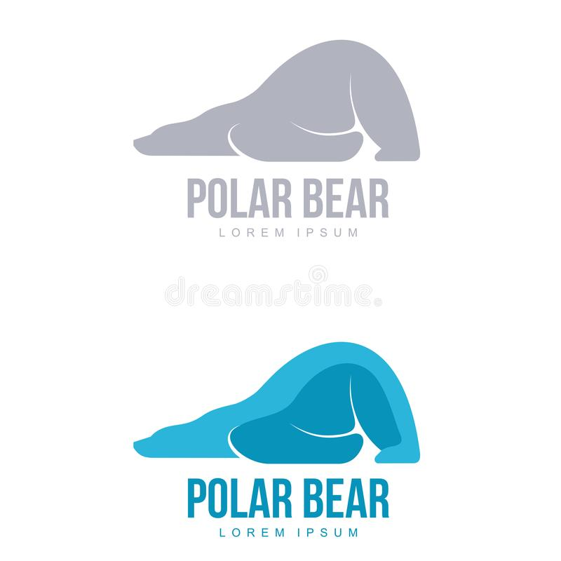 Polar bear logo vector illustration