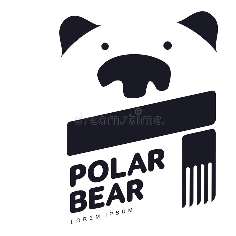 Polar bear logo stock illustration