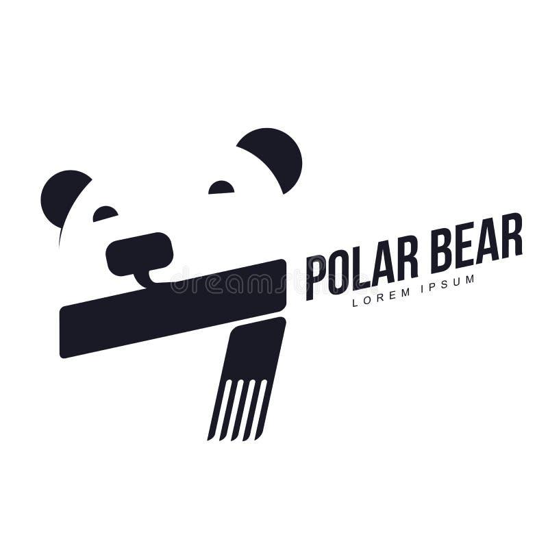 Polar bear logo stock illustration. Illustration of face - 103260377
