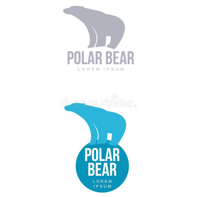 Polar bear logo royalty free illustration