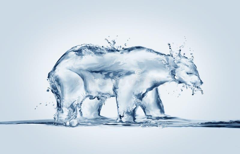 Polar Bear Melting, Global Warming royalty free stock image