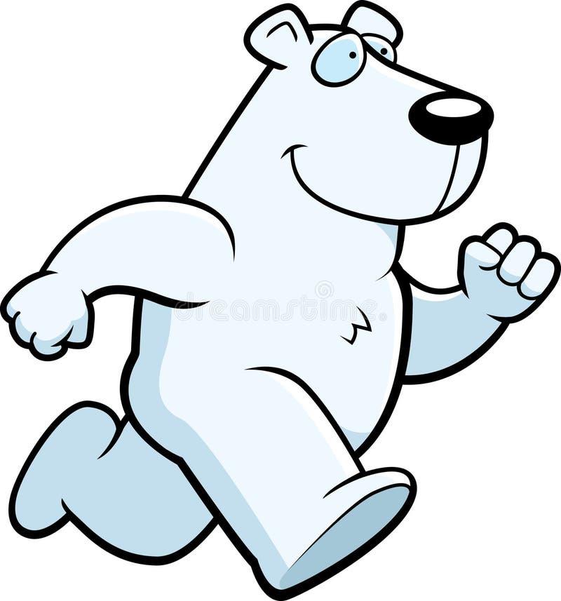 Polar Bear Running royalty free illustration