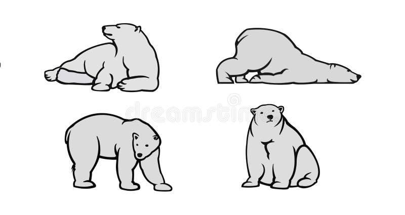 Polar bear vector illustration royalty free stock photo