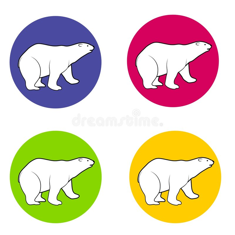 Polar Bears Icons Or Logos Royalty Free Stock Photography