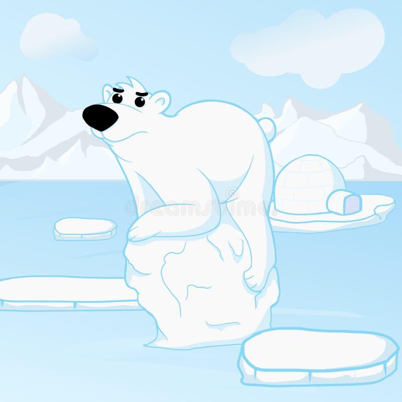 Polar bears lost their home royalty free stock photos