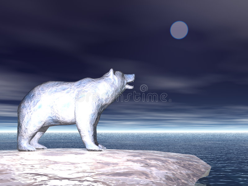 Polar betreffen Sie Eis lizenzfreie abbildung