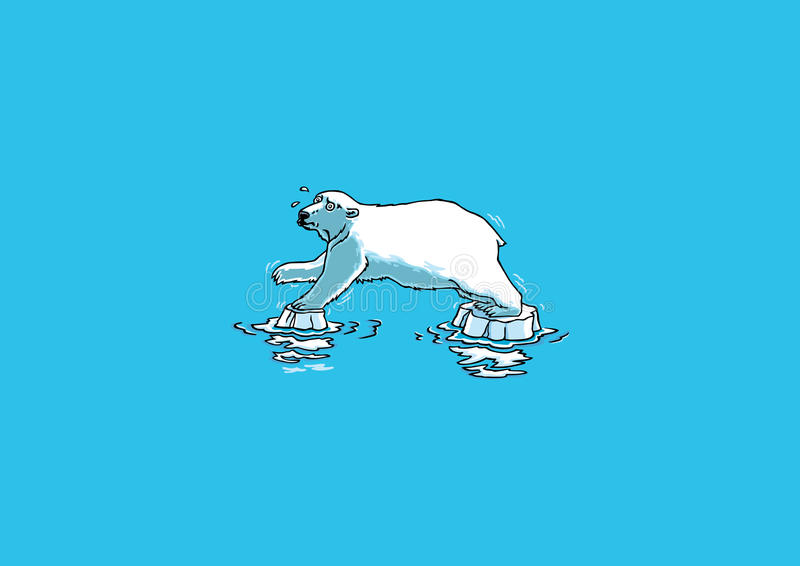 Polar björn stock illustrationer
