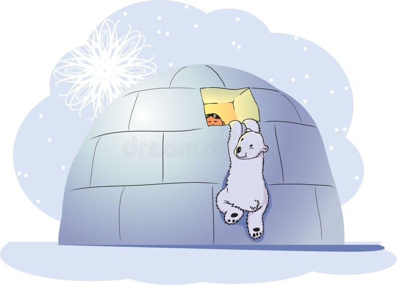 polar björnpojke royaltyfri illustrationer