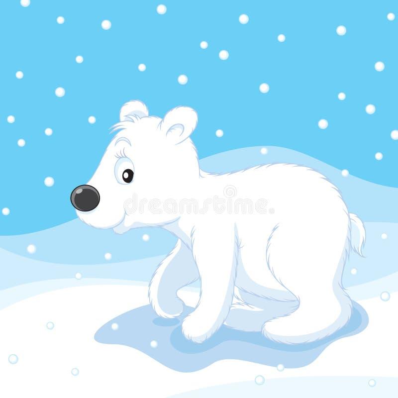 polar björngröngöling royaltyfri illustrationer