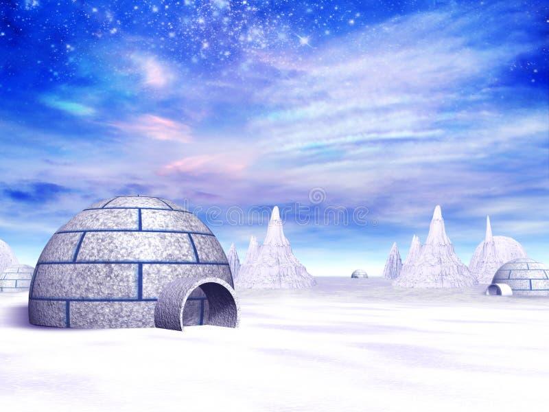 polar bosättning royaltyfri illustrationer