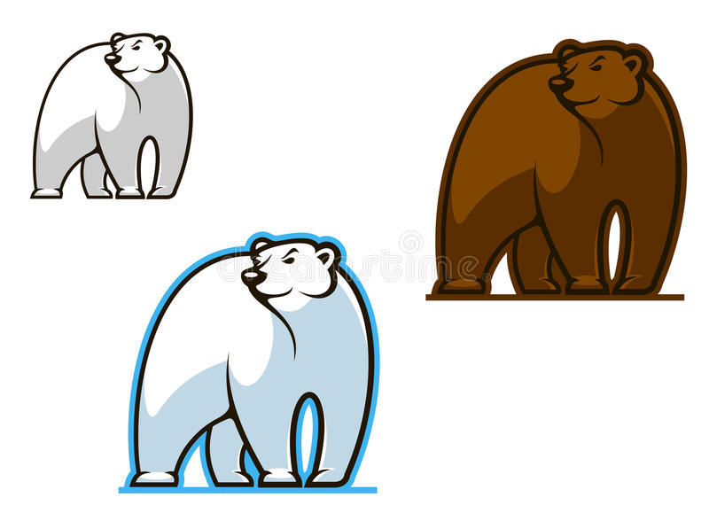 Download Polar and brown bear stock vector. Illustration of furious - 29017476