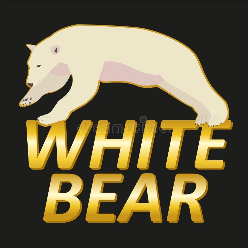 Polar för logovektor för vit björn design stock illustrationer