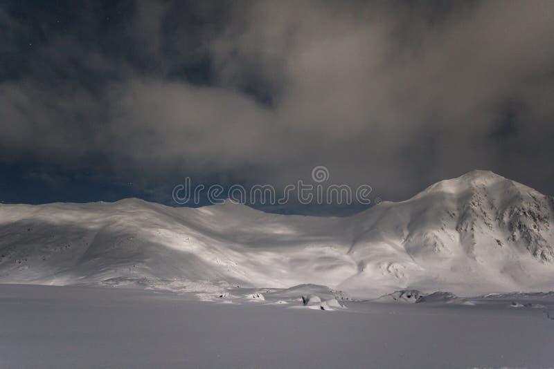 Polar night in Arctic. Beautiful views during the polar night stock photos