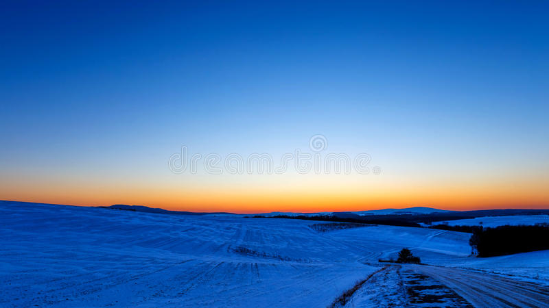 Polar Night. In North Europe royalty free stock images
