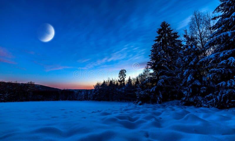 Polar Night. In North Europe stock photo