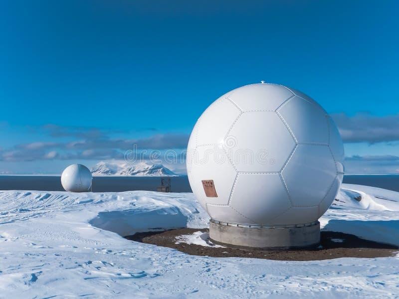Polar station i Svalbard arkivfoto