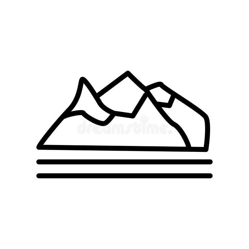 Polar symbolsvektor som isoleras på vit bakgrund, polart tecken stock illustrationer