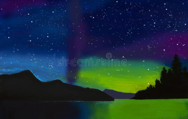 Polare Nacht stock abbildung