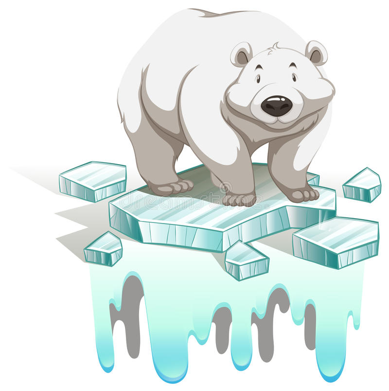 Polare riguardi l'iceberg royalty illustrazione gratis