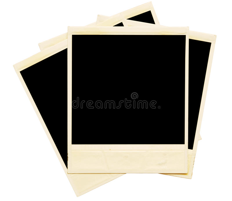 Polariods stock images