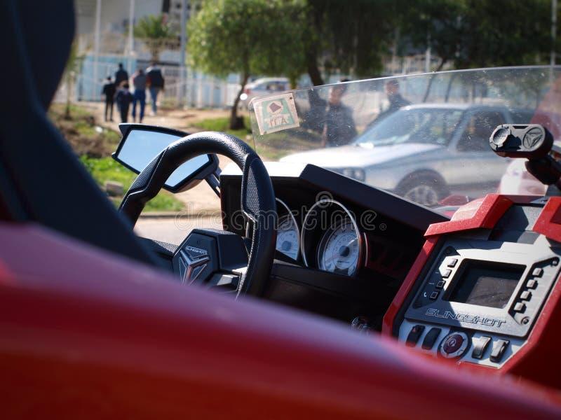Polaris samochodu wnętrze zdjęcia royalty free