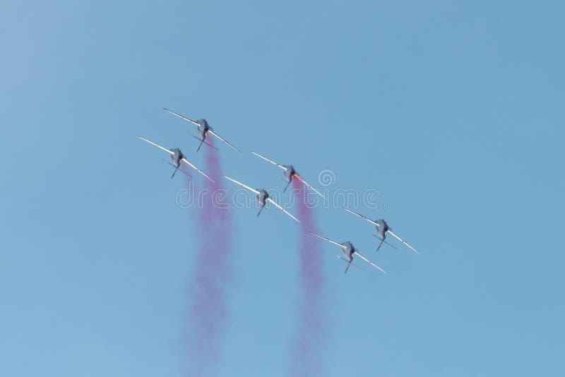 POLARISATION internationale de salon de l'aéronautique de Bucarest, équipe polonaise photographie stock libre de droits