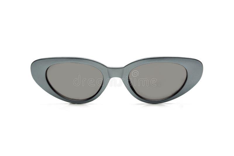 Polariserad solglasögon för kvinnor, modernt och trendigt bakgrund isolerad white royaltyfria bilder