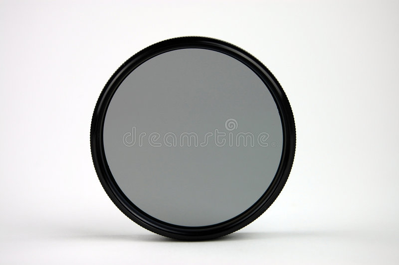 Polarizer. Filter on a white background royalty free stock images