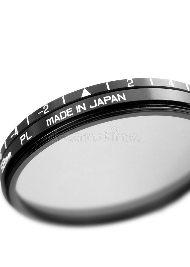 Polarizing filter stock photo