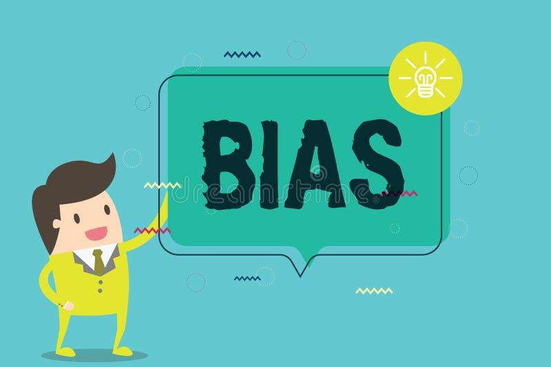 Polarizzazione del testo di scrittura di parola Concetto di affari per il pregiudizio a favore di e contro una cosa considerata c illustrazione di stock