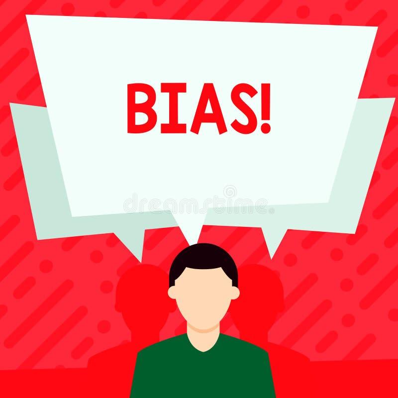 Polarizzazione del testo di scrittura di parola Concetto di affari per l'inclinazione o pregiudizio pro o contro un gruppo di dim illustrazione vettoriale