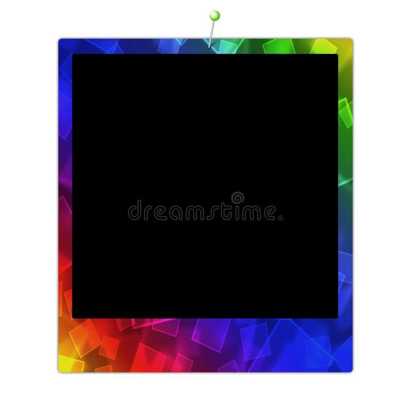 polaroïd de trame de couleur illustration stock