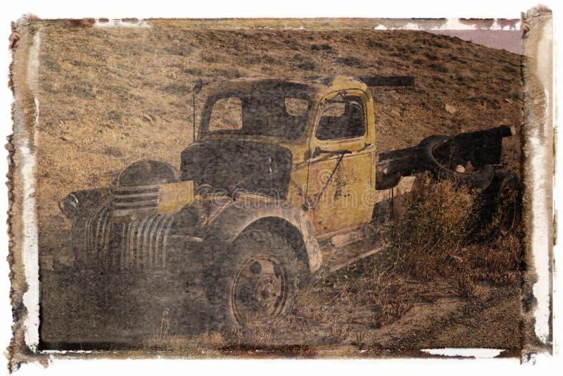 Polaroidübertragung des alten LKW lizenzfreies stockbild