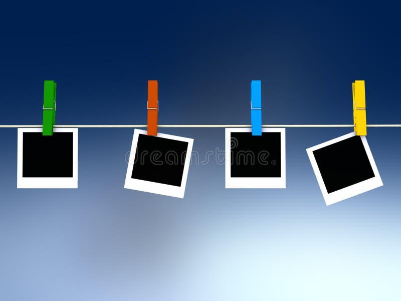 polaroid εικόνων πλαισίων απεικόνιση αποθεμάτων