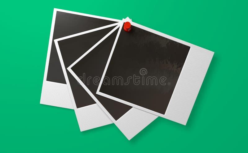 Polaroid και μέτωπο σειράς Pushpin διανυσματική απεικόνιση