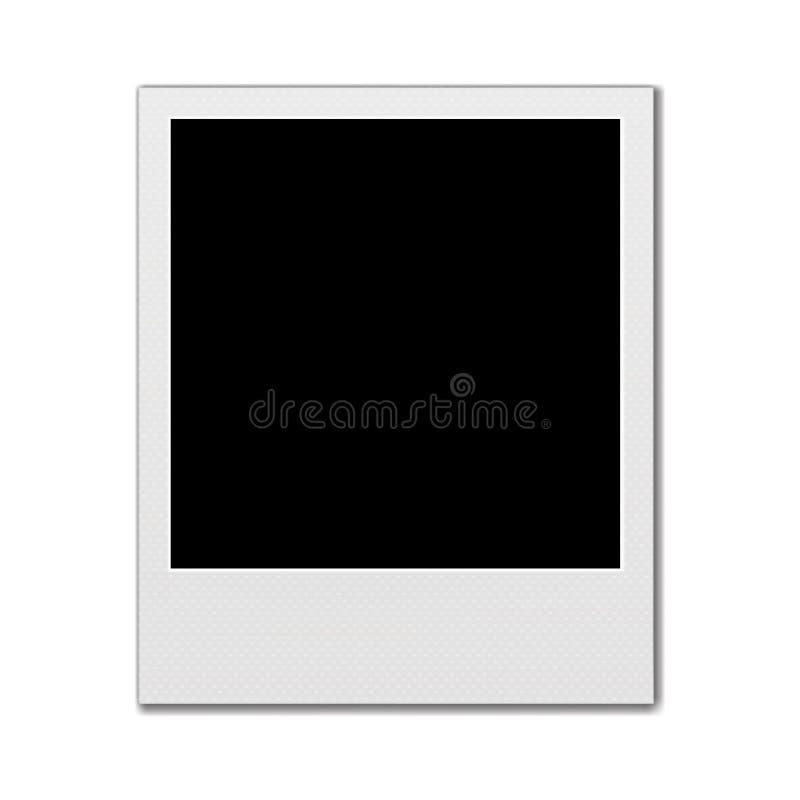 Πλαίσιο φωτογραφιών Polaroid που απομονώνεται στο άσπρο υπόβαθρο ελεύθερη απεικόνιση δικαιώματος