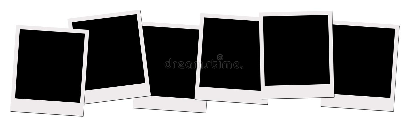 polaroid μονοπατιών ταινιών ψαλιδίσματος διανυσματική απεικόνιση