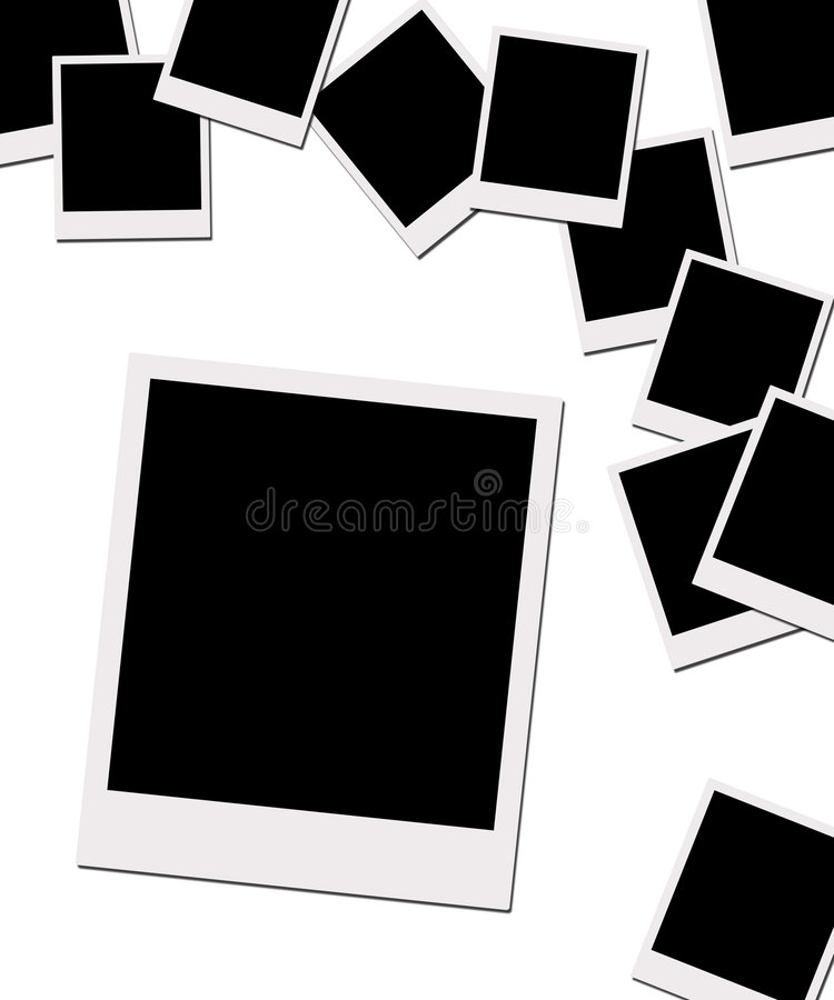 polaroid μονοπατιών ταινιών ψαλι&delta απεικόνιση αποθεμάτων