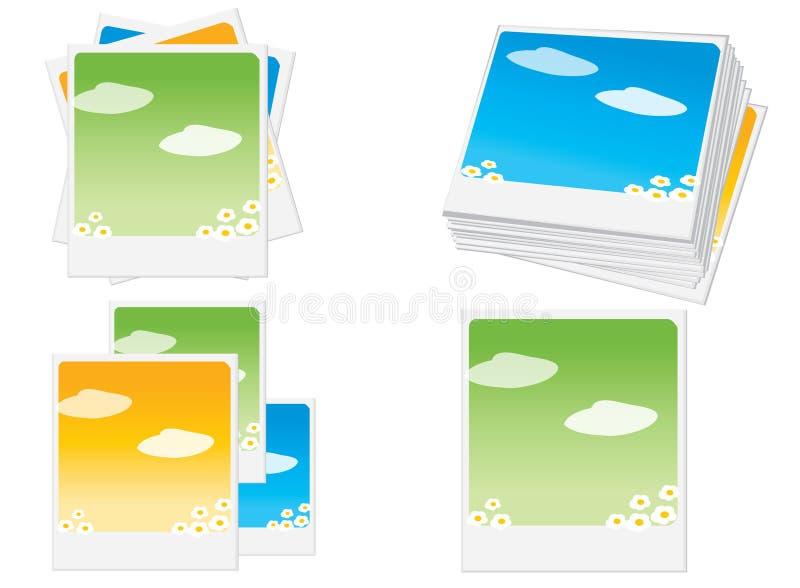 polaroid πλαισίων διανυσματική απεικόνιση
