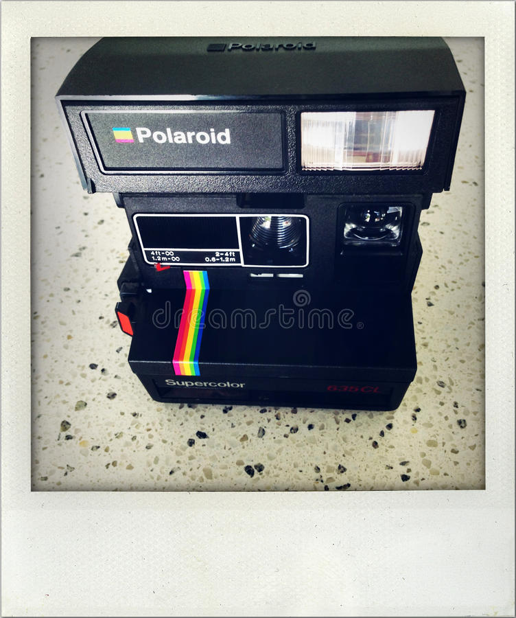 Download Polaroid camera. editorial photography. Image of simple - 27936227